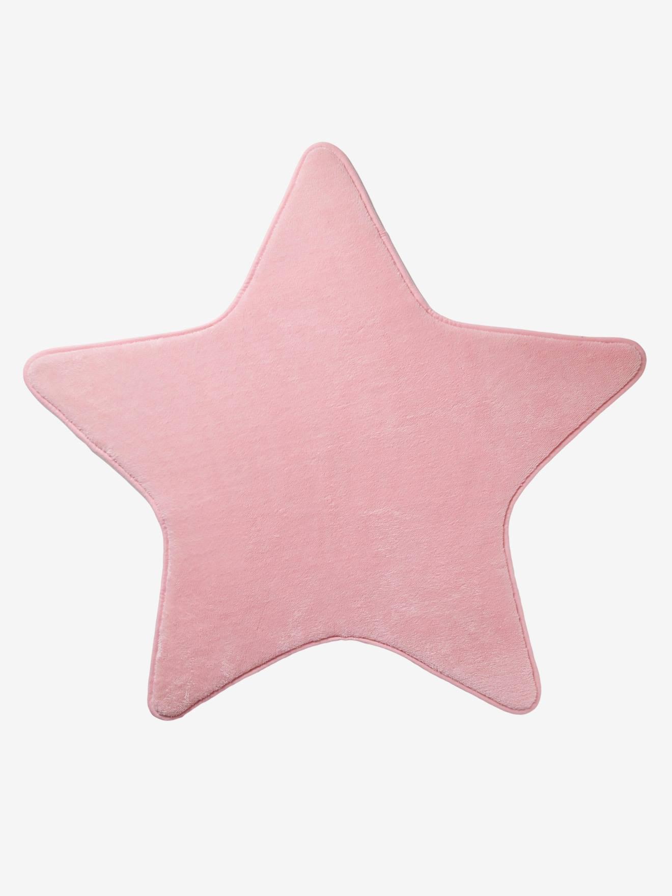 VERTBAUDET Teppich in Sternform für Kinderzimmer rosa