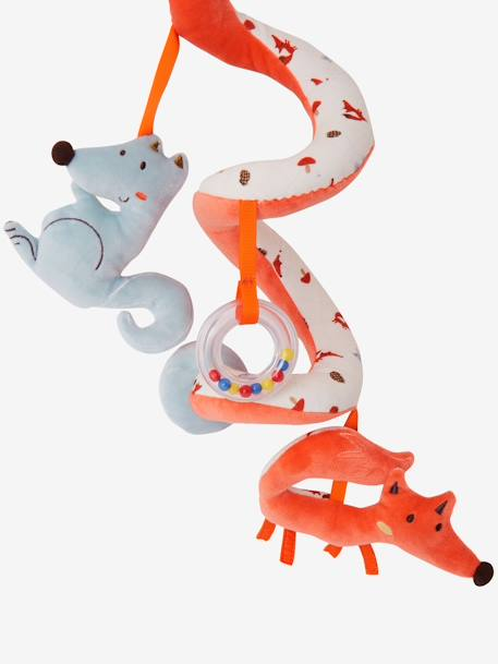 Activity-Spirale, Fuchs und Wolf - orange - 2
