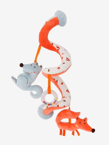 Activity-Spirale, Fuchs und Wolf - orange - 1