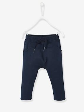 vertbaudet-sweathose-fur-baby-jungen-einfarbig-dunkelblau-gr-92