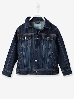 jeansjacke-fur-jungen-washed-out-effekte-dark-blue-kinder-gro-e-140-von-vertbaudet