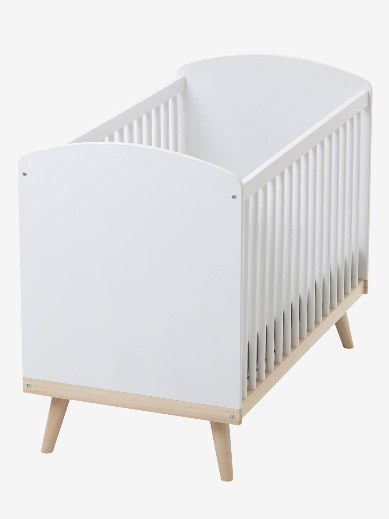 """Babybett """"Konfetti"""" mit höhenverstellbarem Lattenrost weiß/natur von vertbaudet"""