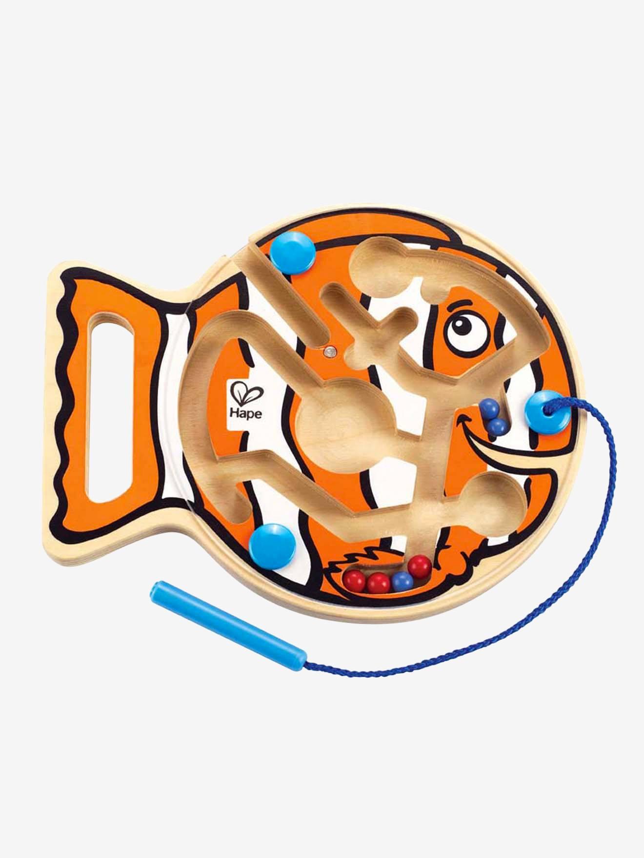 Hape Magnet-Labyrinth mit Fisch von Hape orange/natur