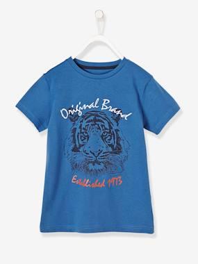 vertbaudet-t-shirt-fur-jungen-lowe-blau-lowe-kinder-gr-116