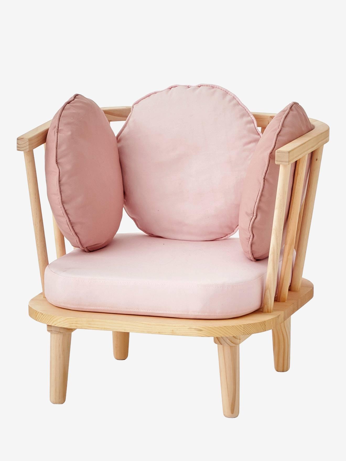 VERTBAUDET Retro-Sessel für Kinderzimmer rosa