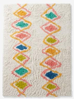 vertbaudet-hochflor-teppich-harlekin-baumwolle-mehrfarbig