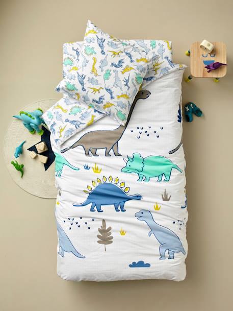 Vertbaudet Kinder Bettwäsche Set Dinoland In Weiß