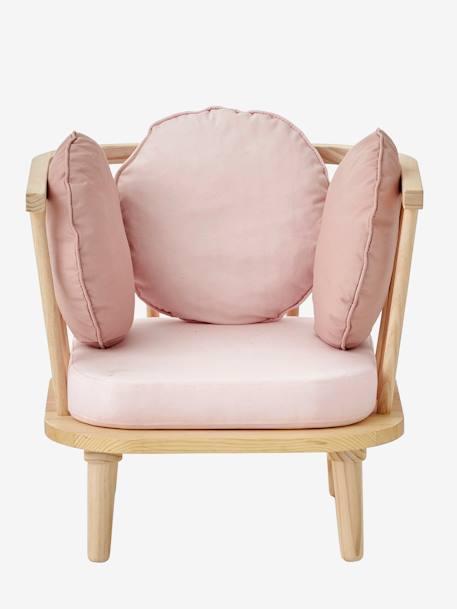 vertbaudet retro sessel f r kinderzimmer in rosa. Black Bedroom Furniture Sets. Home Design Ideas
