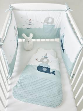 vertbaudet-nestchen-fur-babybett-wal-2-langen-blau-wei-bedruckt-gr-180x40