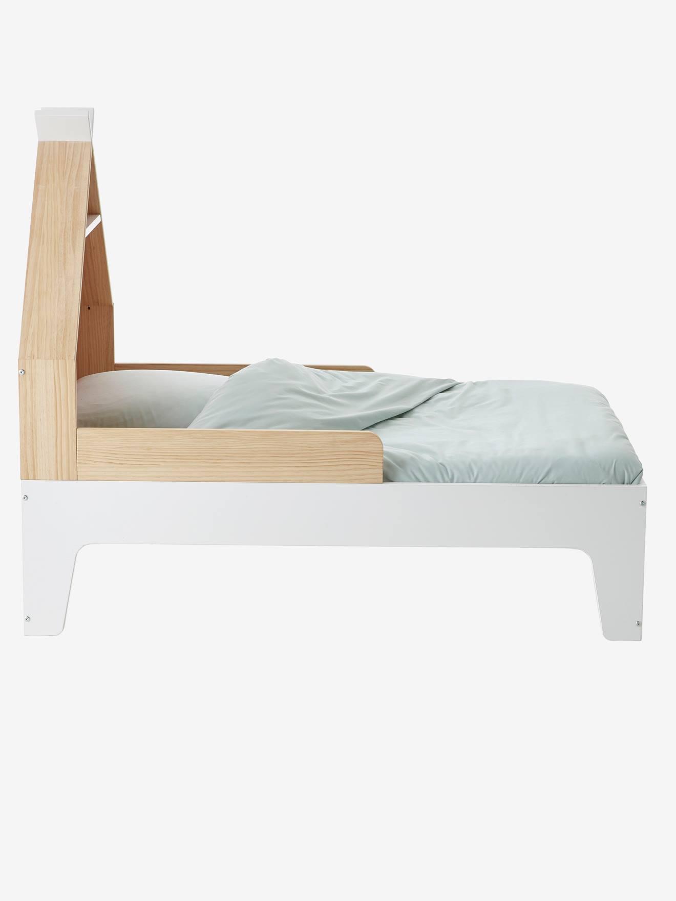 Creme Rundum 4-seitig Kinderbett Schutz passend zu 90 x 40 cm Kinderbett