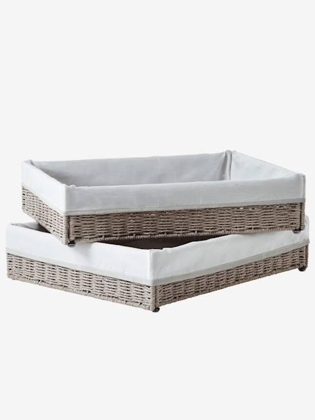 vertbaudet 2er set aufbewahrungsk rbe f r wickeltisch in. Black Bedroom Furniture Sets. Home Design Ideas