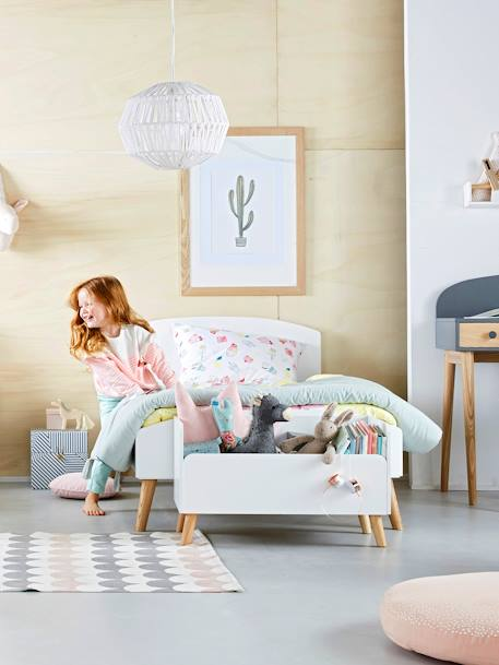 vertbaudet teppich in schaffell optik f r kinderzimmer in rosa. Black Bedroom Furniture Sets. Home Design Ideas