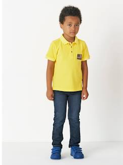 Denim Cool-Jungen Poloshirt, Washed-out-Effekt