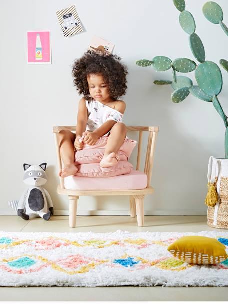 vertbaudet hochflor teppich harlekin baumwolle in mehrfarbig. Black Bedroom Furniture Sets. Home Design Ideas