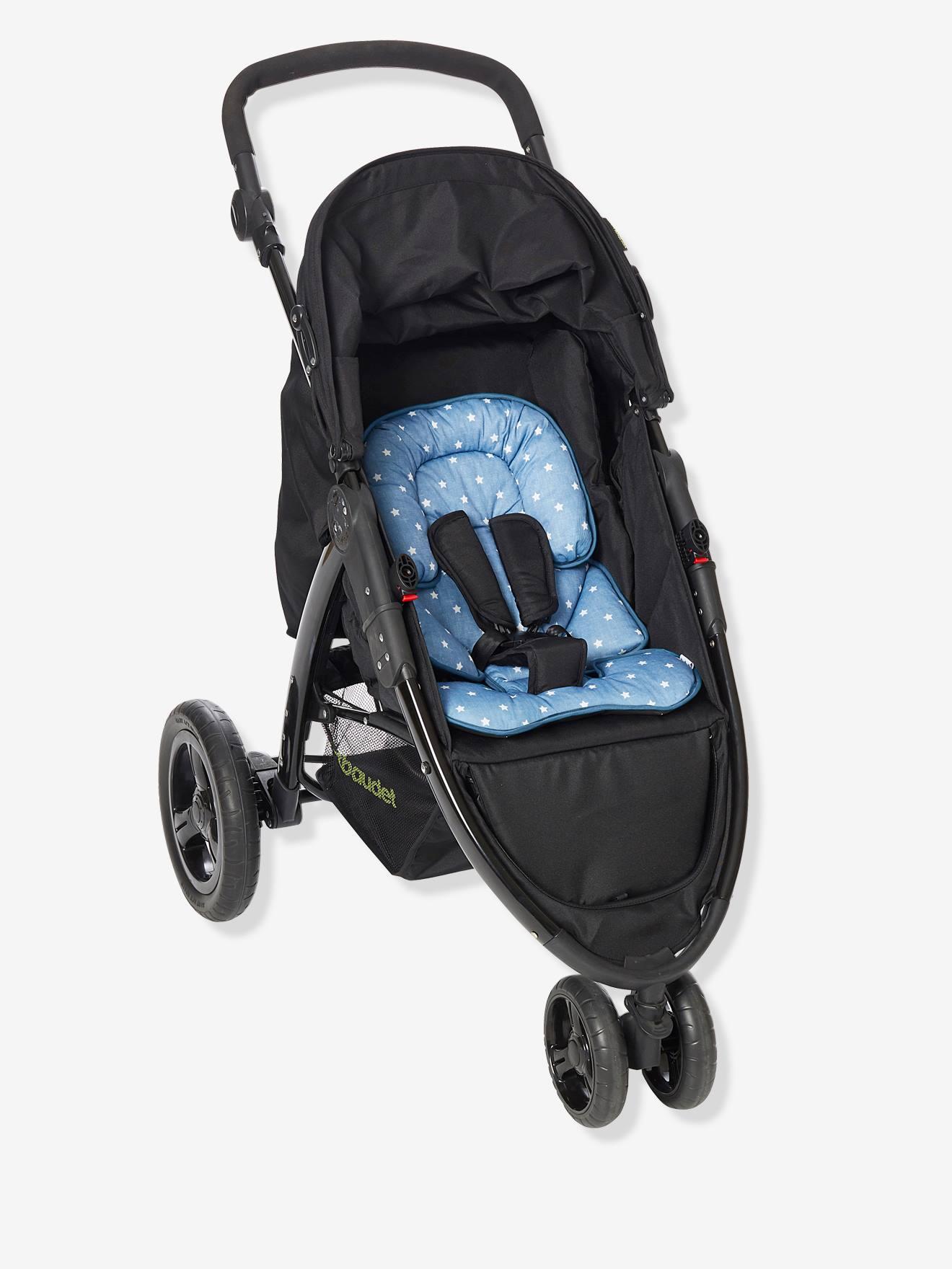 VERTBAUDET Buggy-Sitzverkleinerung für Neugeborene blau sterne