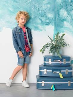 Denim Cool-Jeanshemd für Jungen, Washed-out-Effekt