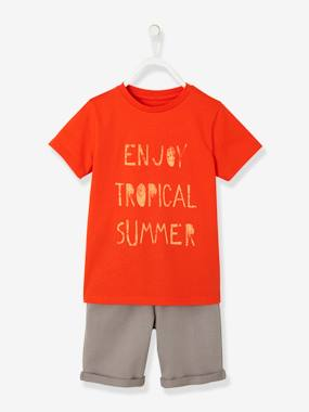 vertbaudet-jungen-set-t-shirt-und-bermudas-orange-kinder-gr-86