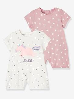Sale-Boutique-2er-Pack Baby Kurzoveralls, Baumwolle