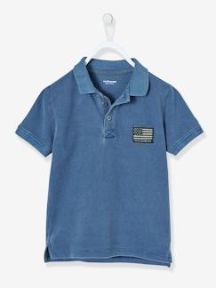 Jungen Poloshirt, Washed-out-Effekt -  - [numero-image]