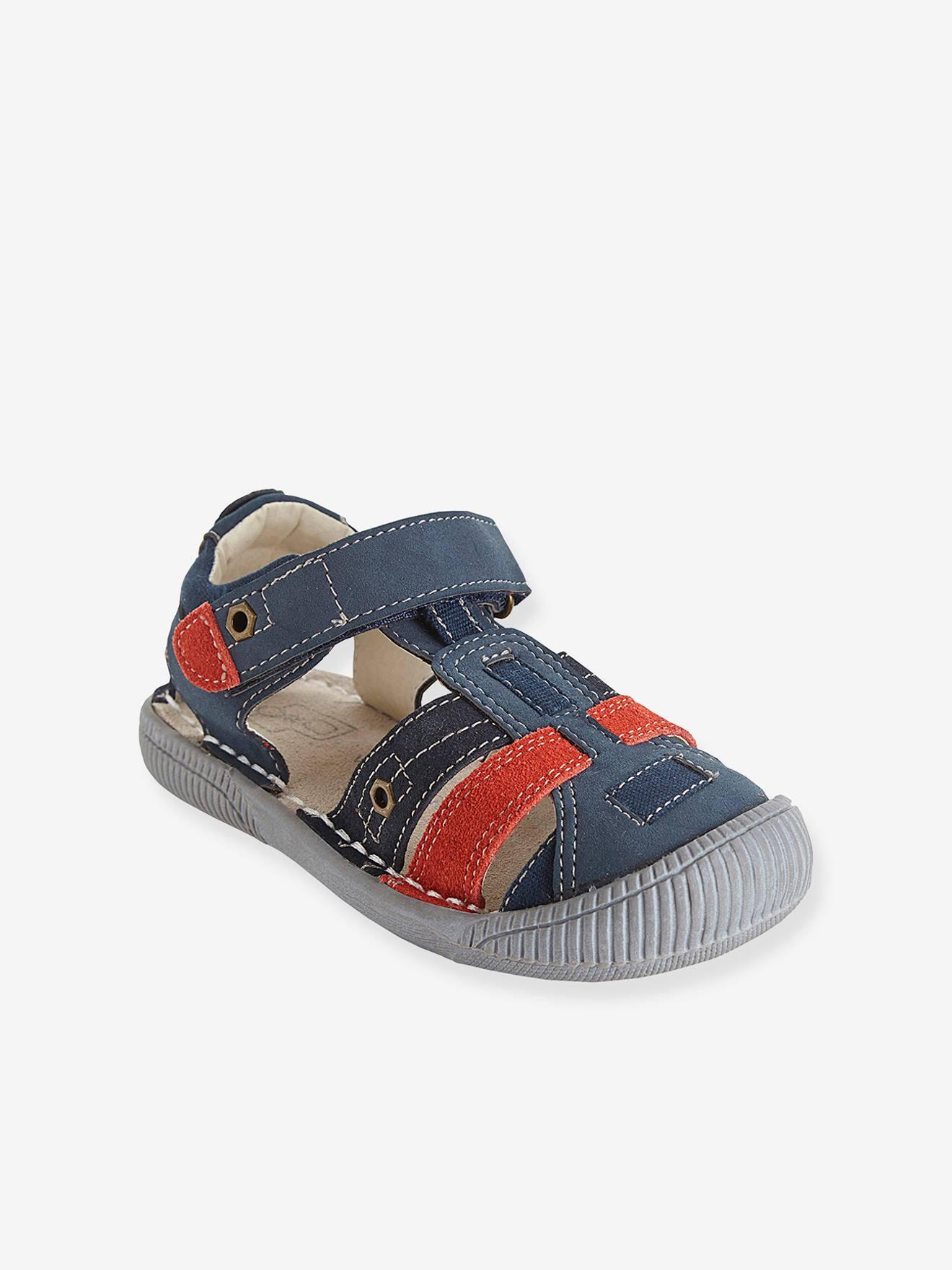 Vertbaudet Sandalen für Jungen, Anzieh-Trick ma...