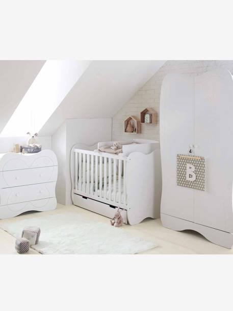 vertbaudet wickelaufsatz f r babybetten in wei. Black Bedroom Furniture Sets. Home Design Ideas