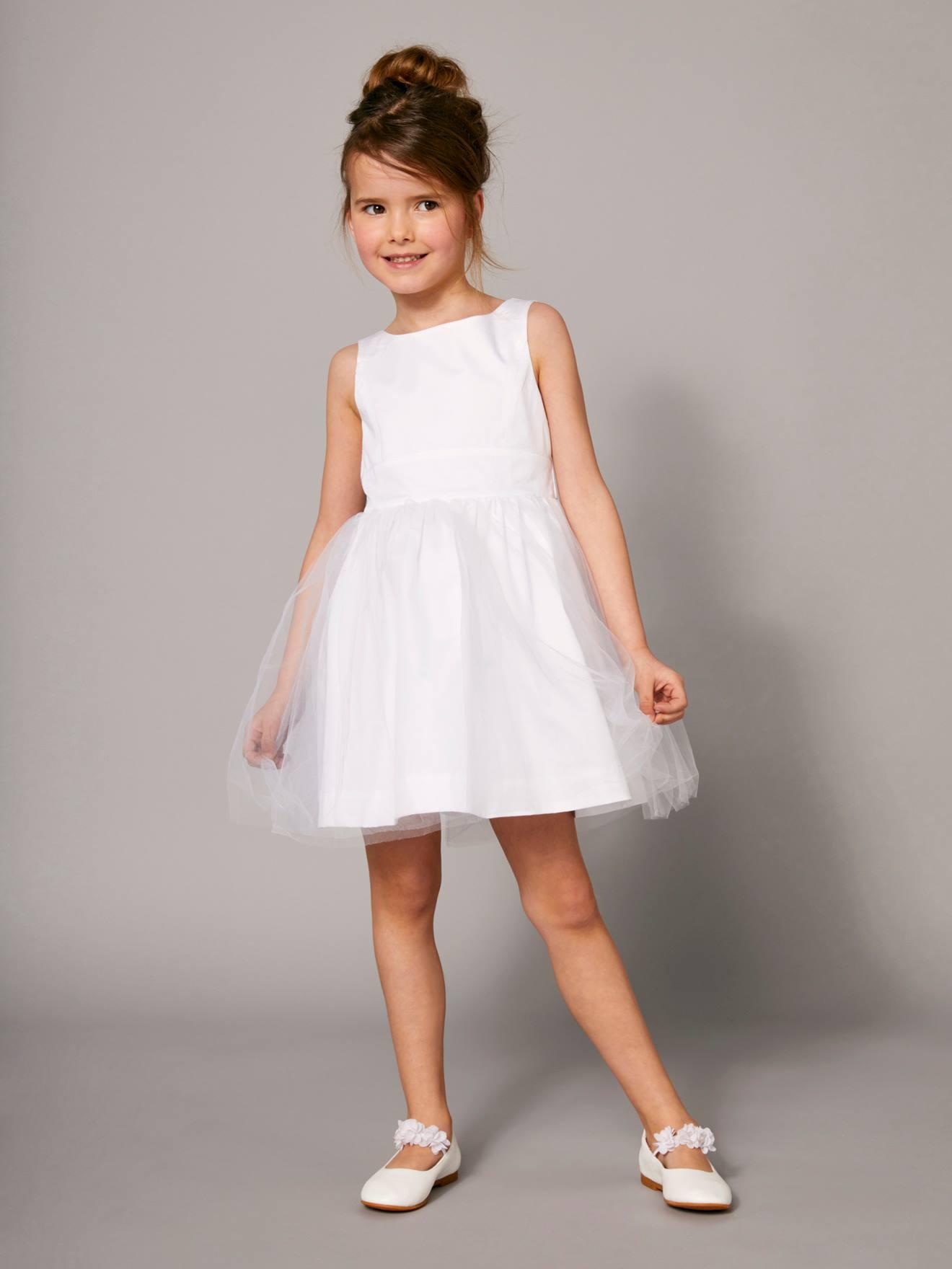 Maedchenkleidung Festliches Mädchenkleid, Satin Und Tüll