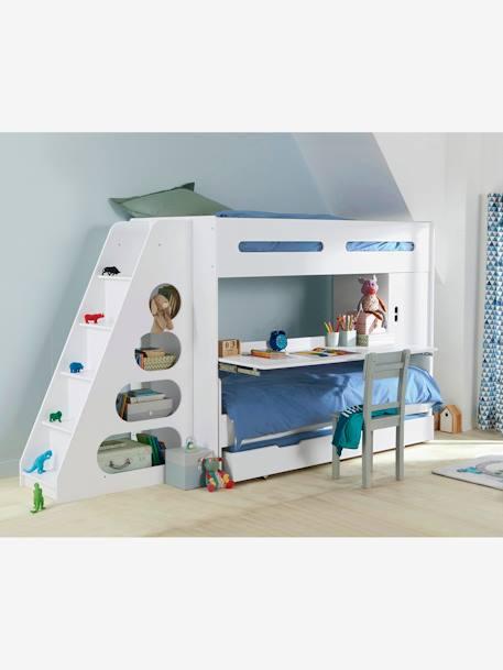 vertbaudet hochbett combibed in wei. Black Bedroom Furniture Sets. Home Design Ideas