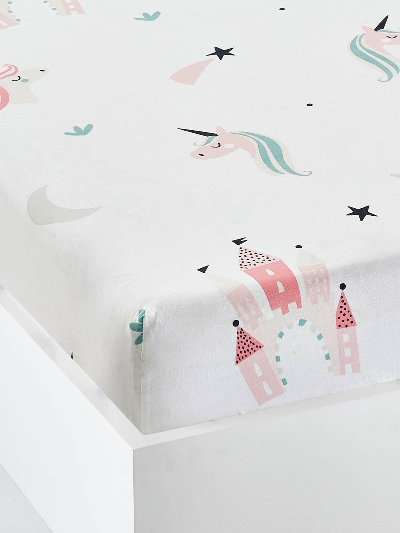VERTBAUDET Kinder-SpannbettlakenSchmetterlinge mehrfarbig 90x140