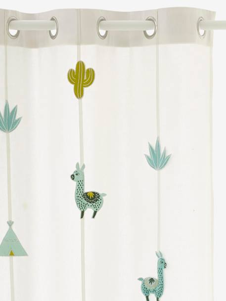 vorhang kaktus fur kinderzimmer wollweiss 1