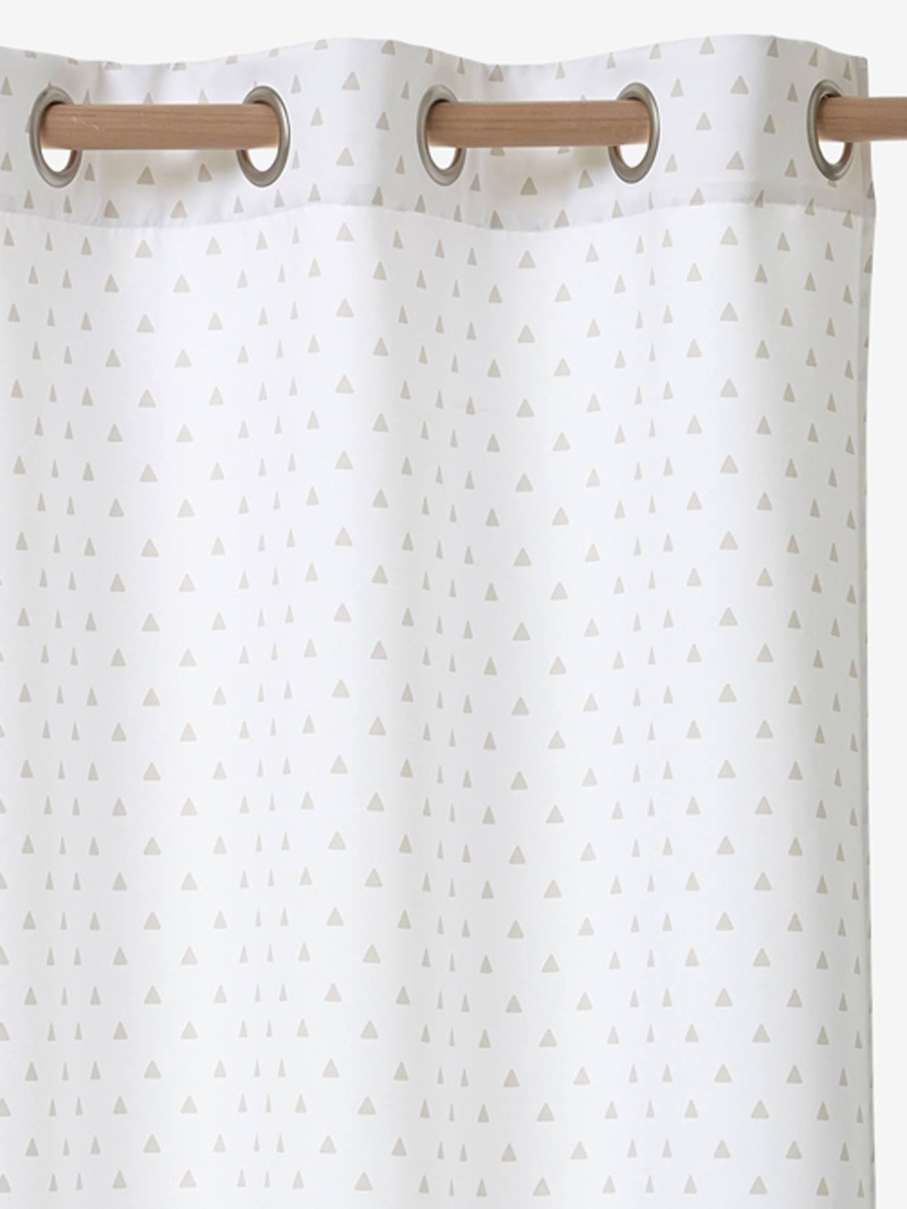 VERTBAUDET Verdunkelungsvorhang für Kinderzimmer wollweiß bedruckt Gr. 135X180