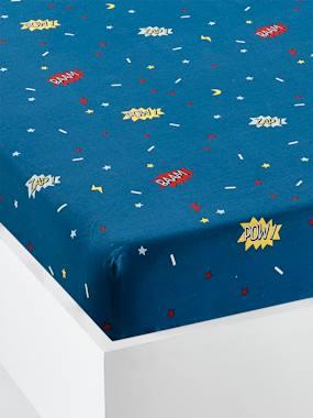 vertbaudet-spannbettlaken-fur-kinder-superkatze-blau-gr-90x190
