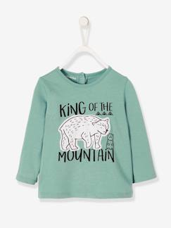 Into the woods Baby-Baby Jungen T-Shirt, Applikation