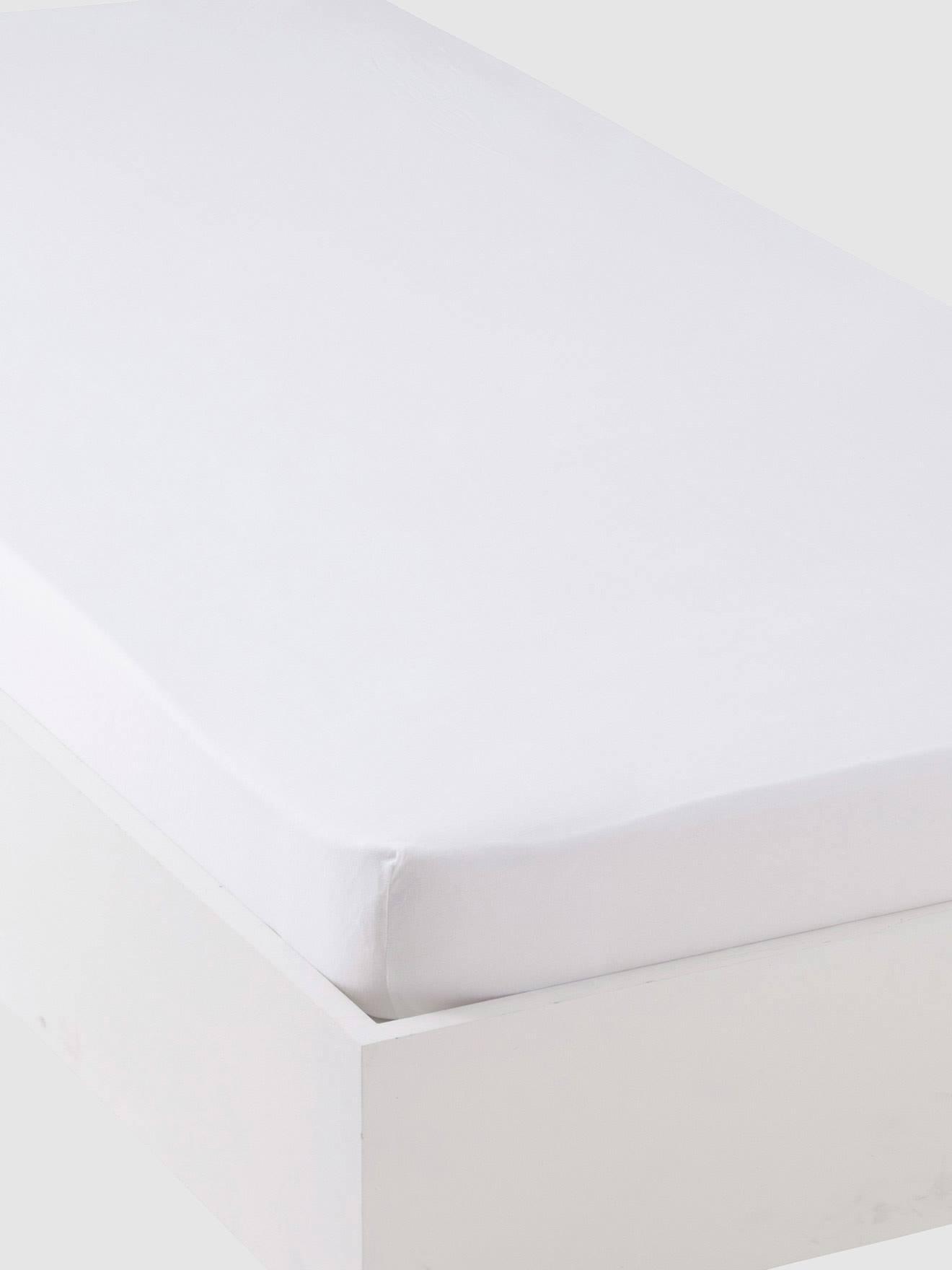 VERTBAUDET Jersey-Spannbettlaken für Kinderbetten weiß Gr. 90x140