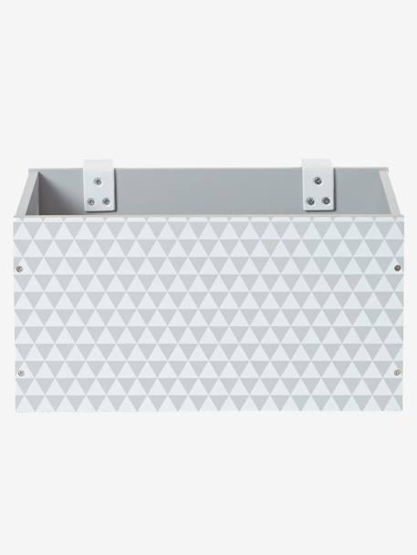 vertbaudet aufbewahrungsbox f r den wickeltisch in grau. Black Bedroom Furniture Sets. Home Design Ideas