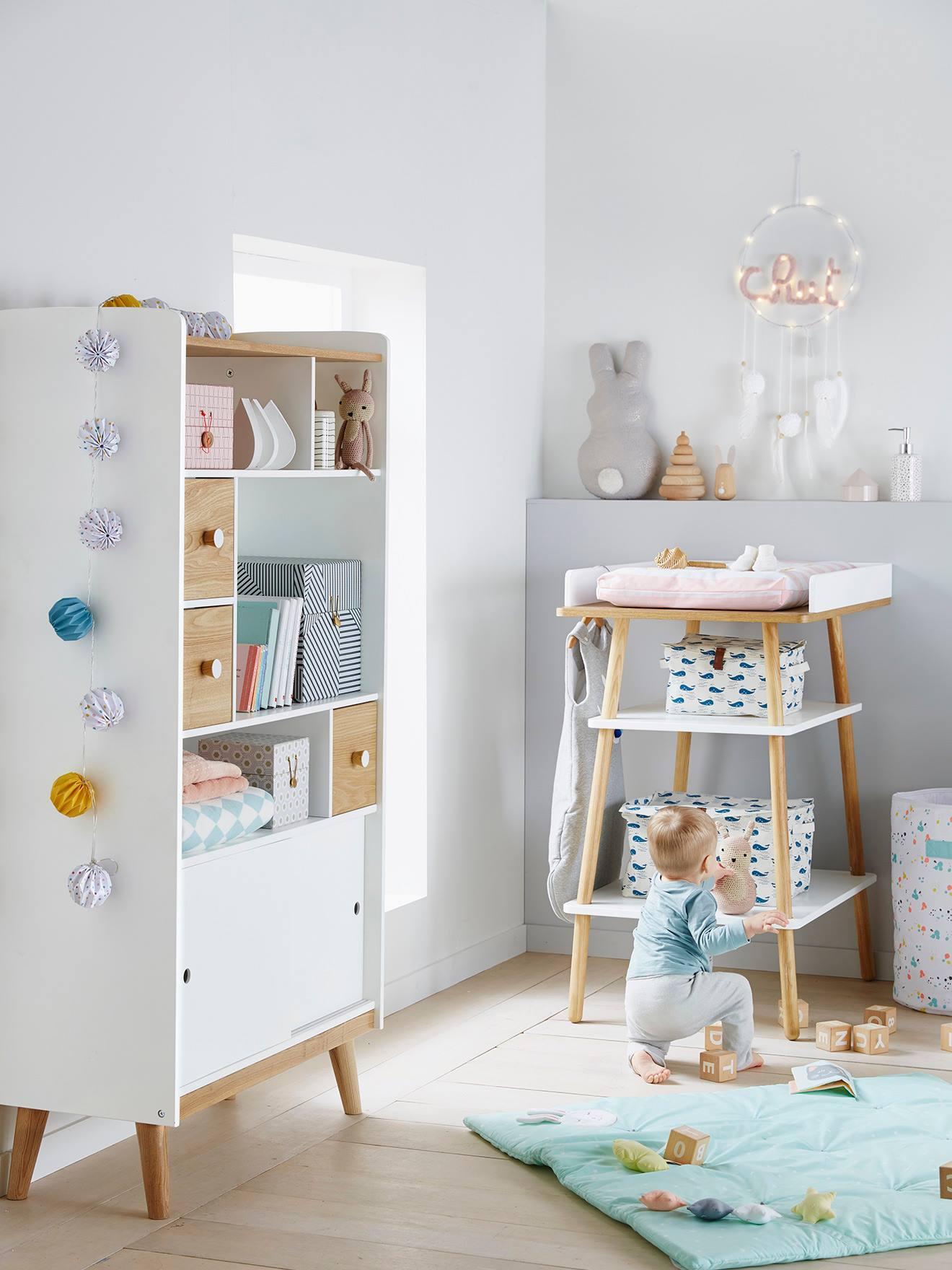 Vertbaudet Origami-Lichterkette für Kinderzimmer, Lichtergirlande in  mehrfarbig
