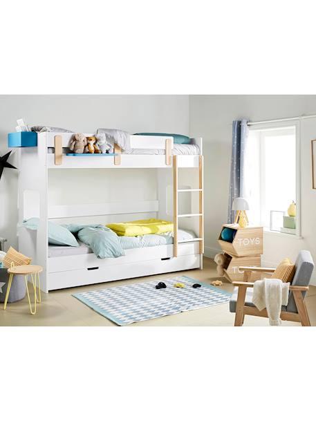 Vertbaudet Holz-Sessel für Kinderzimmer, Vintage in hellblaugrau/natur