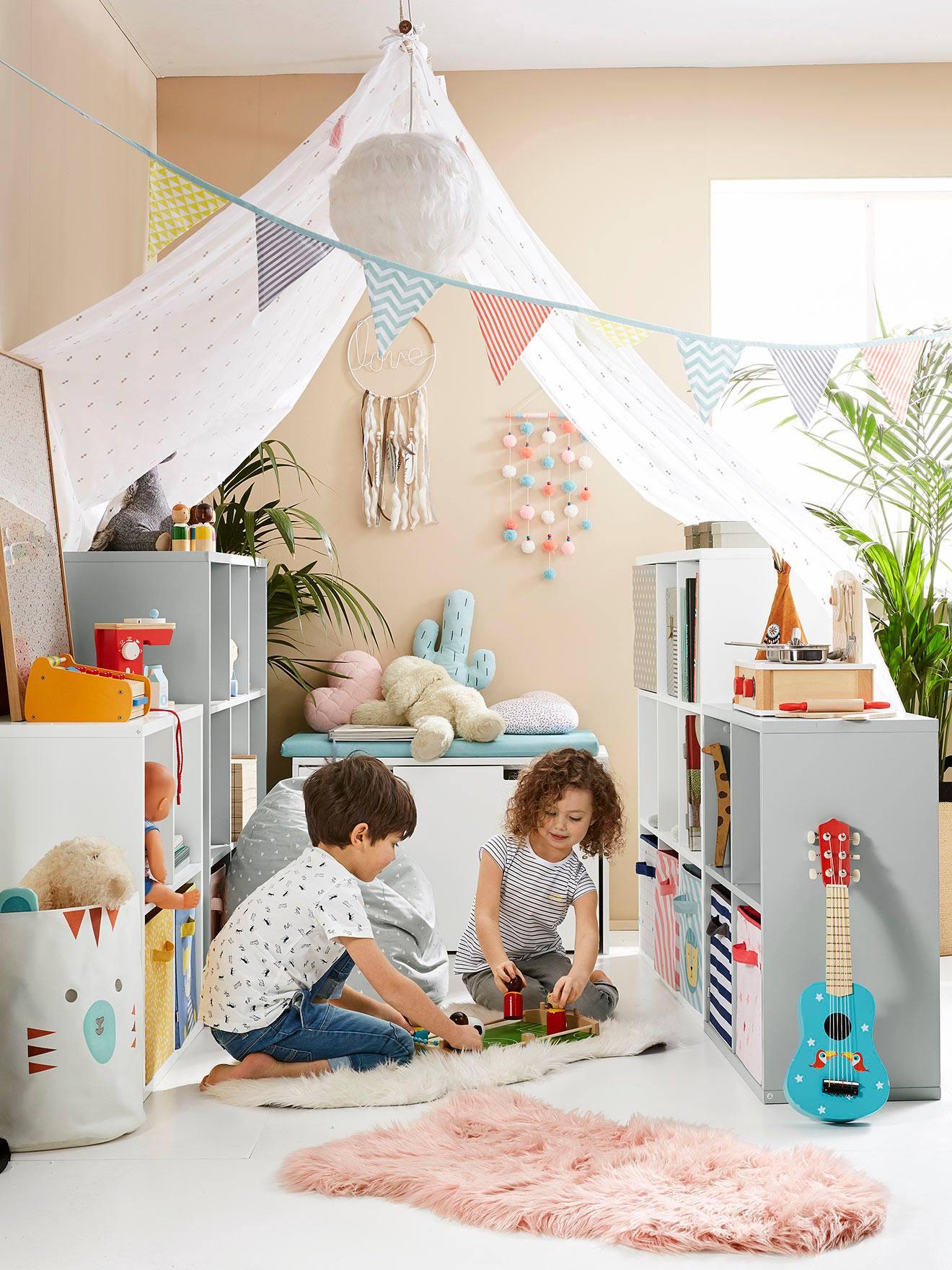 Vertbaudet Wimpel Girlande Fur Kinderzimmer Wimpelkette In Mehrfarbig
