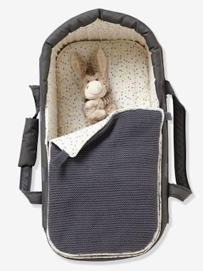 Softtragetasche für Babys grau/sterne von vertbaudet