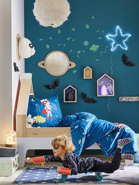 vertbaudet teppich in sternform f r kinderzimmer in blau. Black Bedroom Furniture Sets. Home Design Ideas