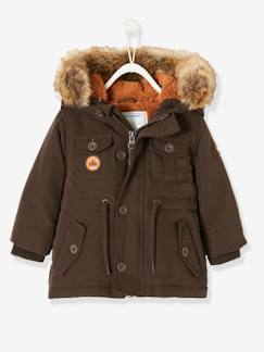 Into the woods Baby-Winterjacke mit Fellkapuze, Baby Jungen