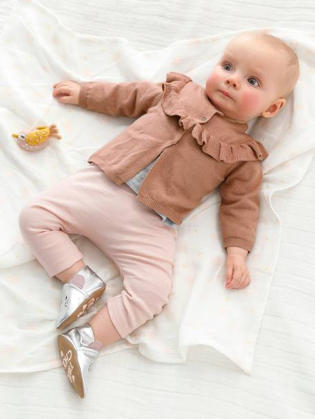 2er-Pack Baby Leggings, Baumwolle - pack rosa - 4