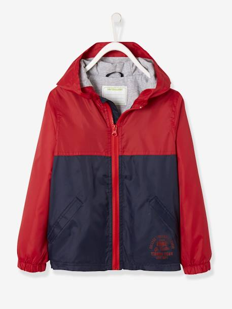new products 9b891 48fce Vertbaudet Jungen Windjacke mit Kapuze in rot/marine