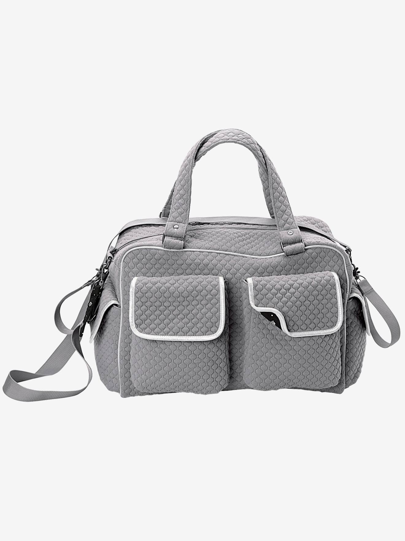 Wickeltasche mit vielen Fächern grau von vertbaudet