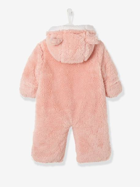 Baby Overall/Ausfahrsack - rosa+taupe+wollweiß - 2