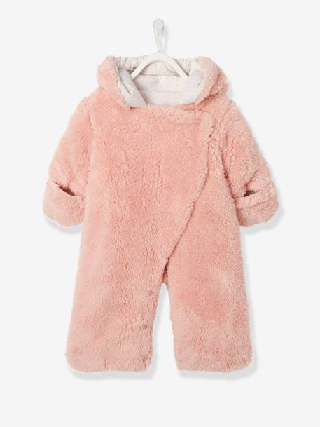 Baby Overall/Ausfahrsack - rosa+taupe+wollweiß - 1