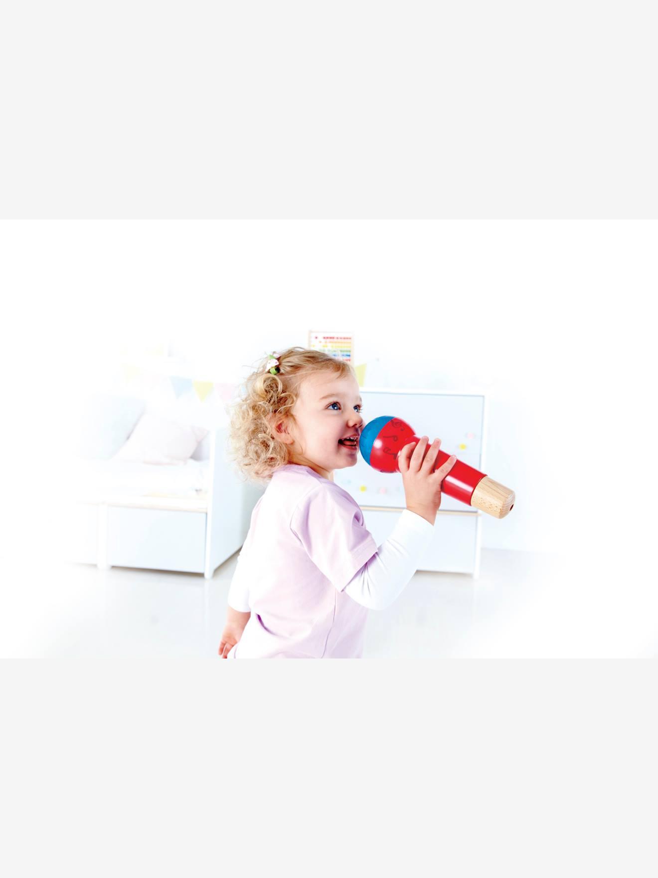Spiel-Mikrofon für Kinder aus Holz HAPE rot Gr....