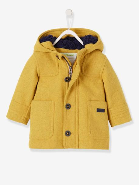 buy popular b9c6c 845a6 Vertbaudet Dufflecoat für Baby Jungen, Winterjacke in curry