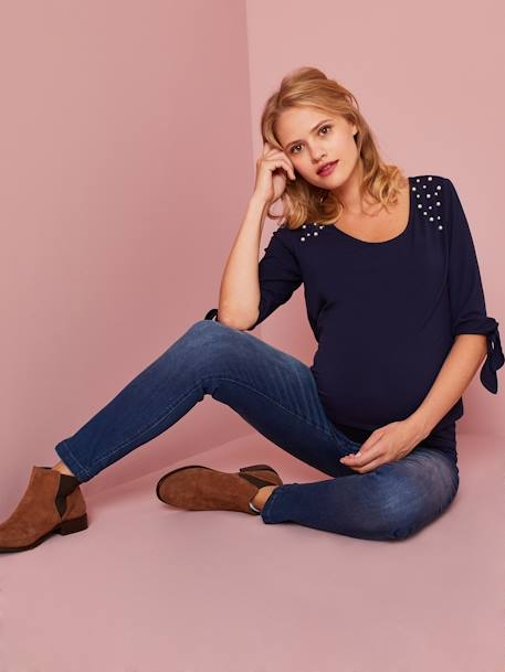 7/8-Umstands-Jeans, Skinny - black+dark blue - 7
