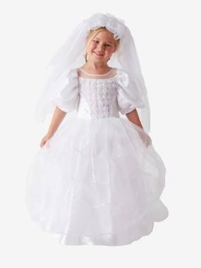 Image of Brautkleid-Kostüm für Mädchen weiß Gr- 92/104 von vertbaudet