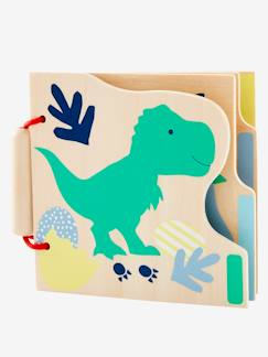 Baby-Buch aus Holz, Dinos -  - [numero-image]
